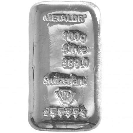 100 Grams Metalor Silver Bar