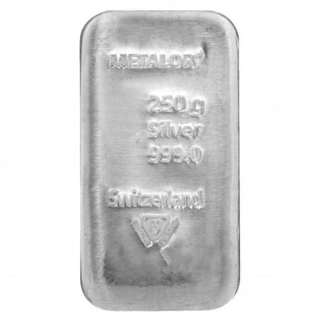 250 Grams Metalor Silver Bar