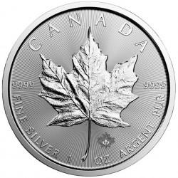 1 Oz Maple Leaf 2020 Silver...