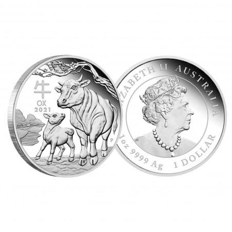 1 Oz Australian Ox 2021 Silver Coin