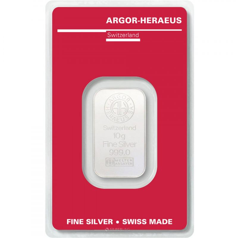 10 Grams Argor-Heraeus Silver Bar