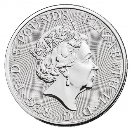 2 Oz 2021 White Greyhound Silver Coin