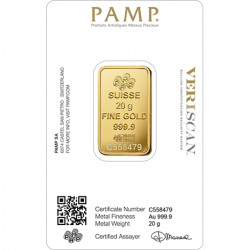 20 Grams PAMP Fortuna Gold Bar