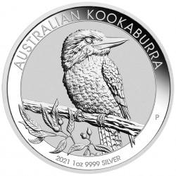 1 Oz Kookaburra 2021 Silver...