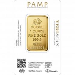 1 Oz PAMP Fortuna Gold Bar