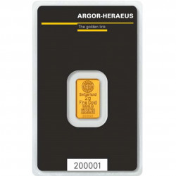 2 Grams Argor-Heraeus Gold Bar
