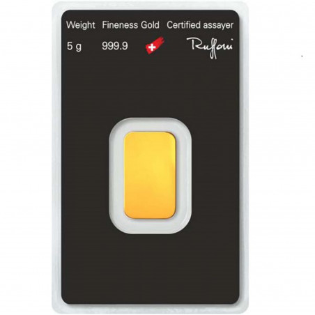 5 Grams Argor-Heraeus Gold Bar