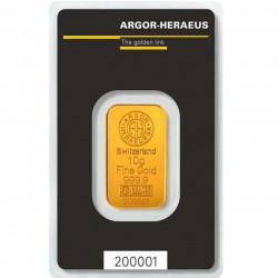 10 Grams Argor-Heraeus Gold...