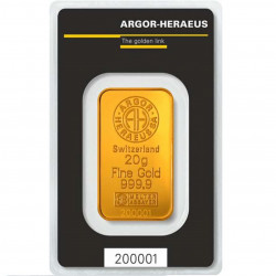 20 Grams Argor-Heraeus Gold...