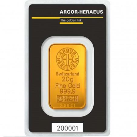 20 Grams Argor-Heraeus Gold Bar