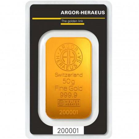 50 Grams Argor-Heraeus Gold Bar