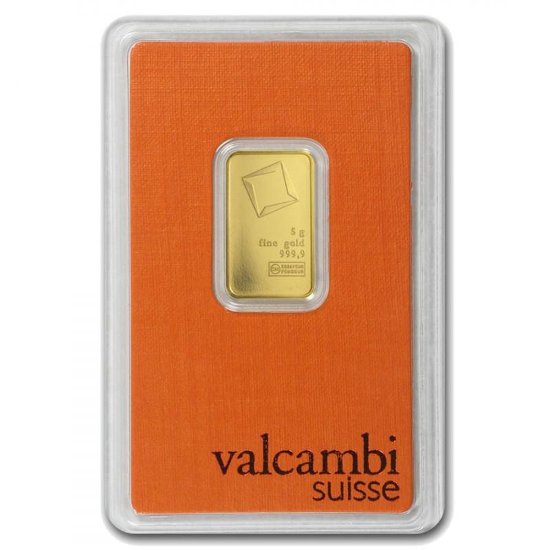 5 Grams Valcambi Gold Bar