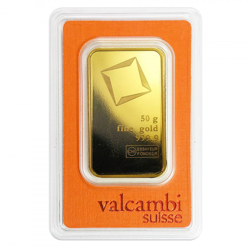50 Grams Valcambi Gold Bar