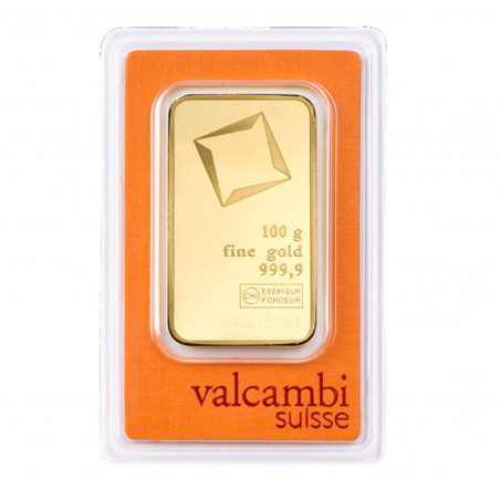 100 Grams Valcambi Gold Bar
