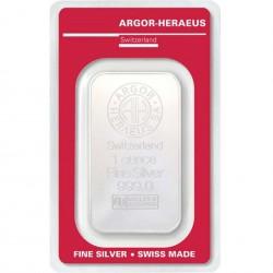 1 Oz Argor-Heraeus Silver Bar
