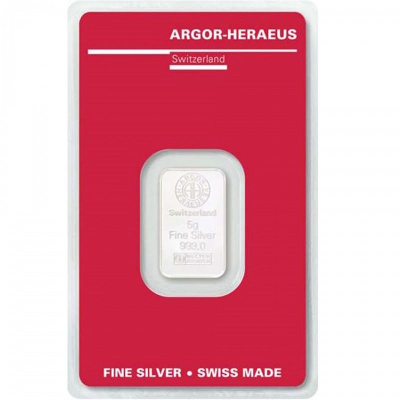 5 Grams Argor-Heraeus Silver Bar