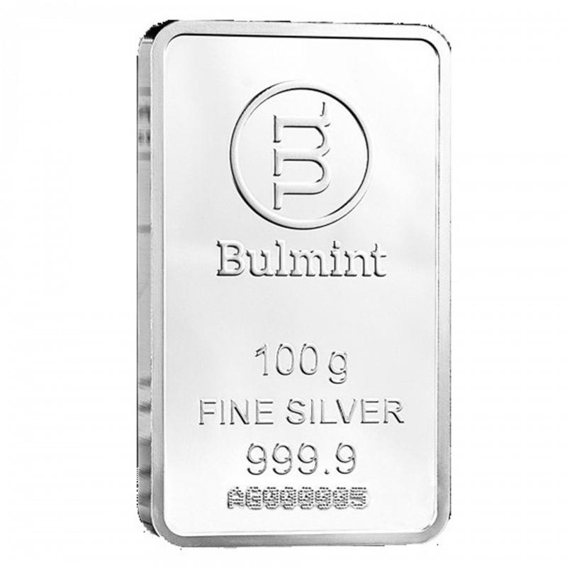 100 Grams Bulmint Silver Bar 999.9