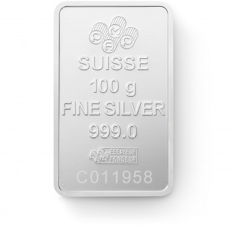 100 Grams PAMP Fortuna Silver Bar