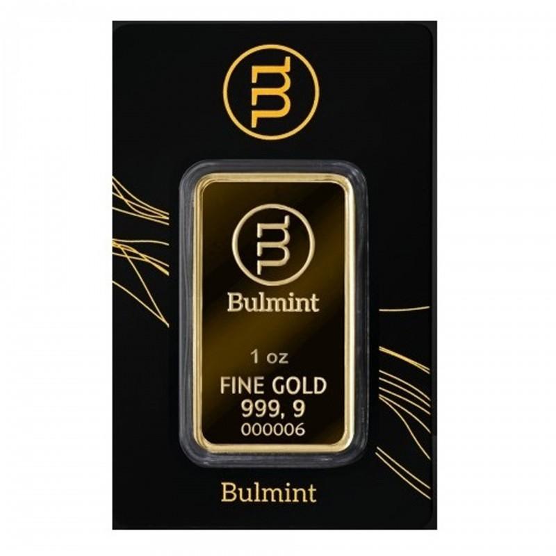 1 Oz Bulmint Gold Bar 999.9