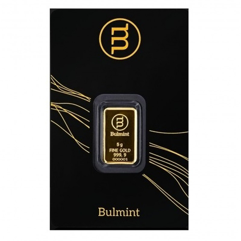 5 Grams Bulmint Gold Bar 999.9
