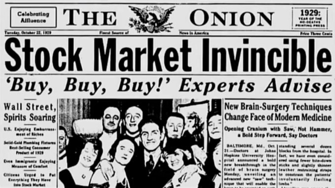 Nowadays is not the first time the stock market hit all-time highs.