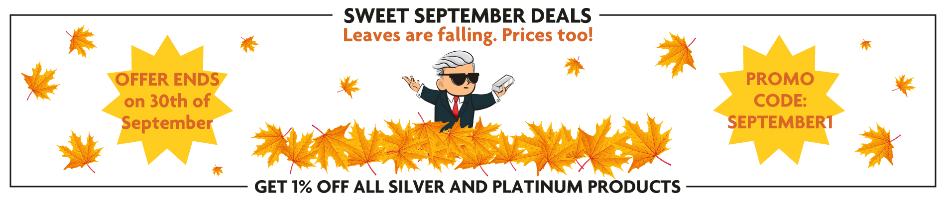 Ad Slide about silver and gold bullion bars and coins.